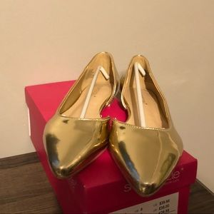 Gold Flats (Arlete) from shoedazzle